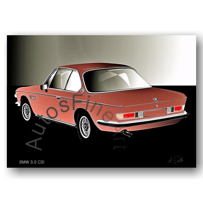BMW 3.0 CSI - Poster No. 125glow