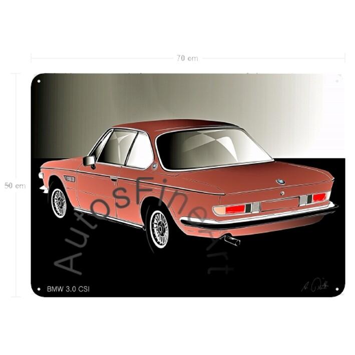 BMW 3.0 CSI - Blechbild No. 125glow