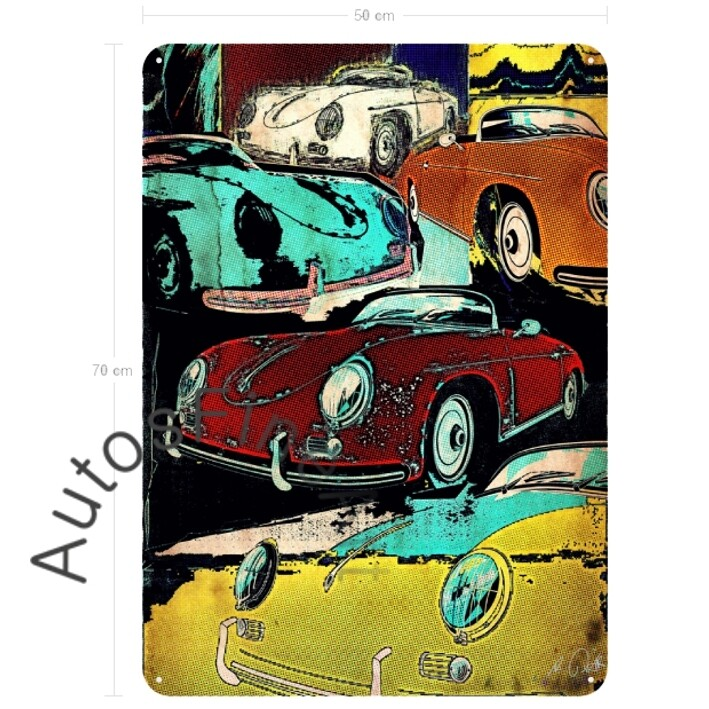 Porsche 356 Spider - Blechbild No. 115pop