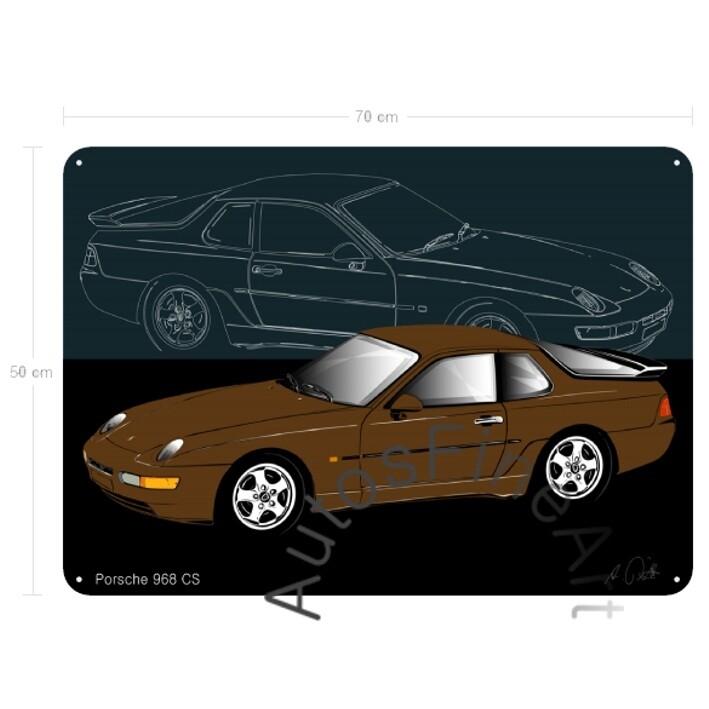 Porsche 968 CS - Blechbild No. 130sketch