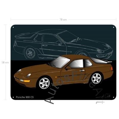 Porsche 968 CS - Blechbild No. 130