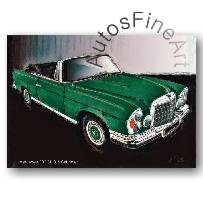 Mercedes 280 SL 3.5 Cabriolet - Poster No. 131glow