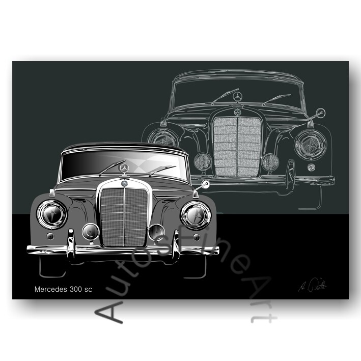 Mercedes 300 sc - Poster No. 133sketch