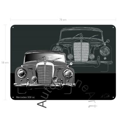Mercedes 300 sc - Blechbild No. 133