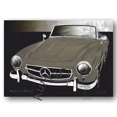 Mercedes 190 SL - HD Aluminiumbild No. 134