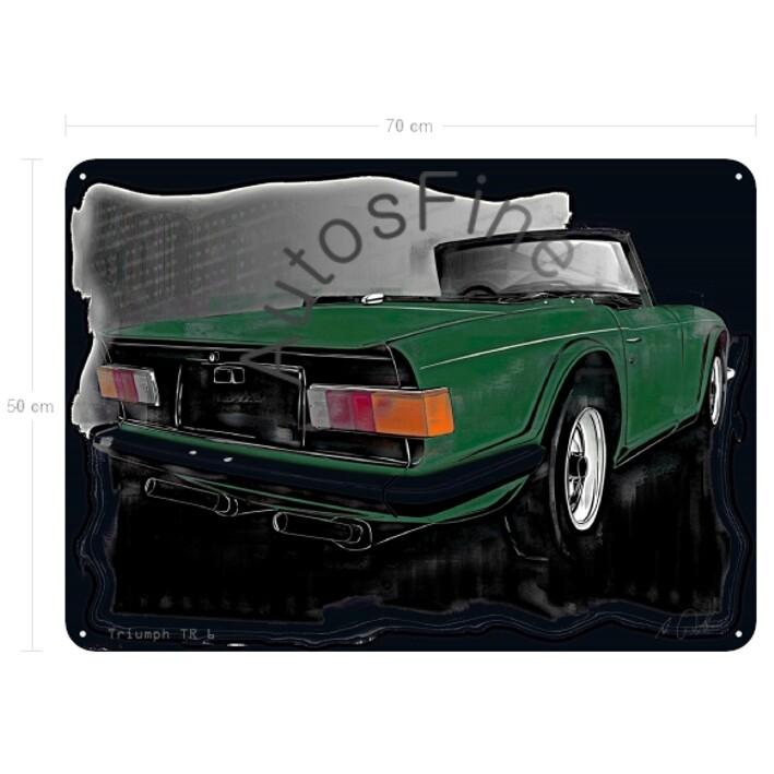 Triumph TR6 - Blechbild No. 135vintage