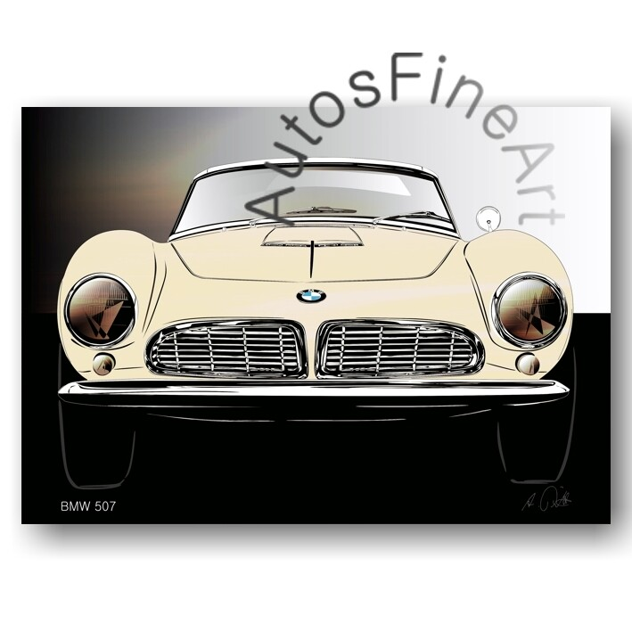 BMW 507 - Poster No. 138glow