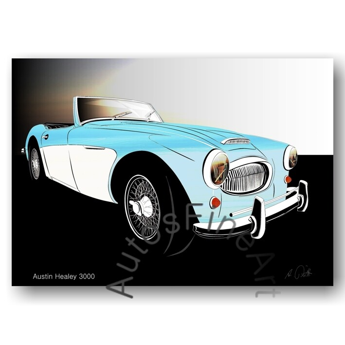 Austin Healey 3000 - Poster No. 139glow