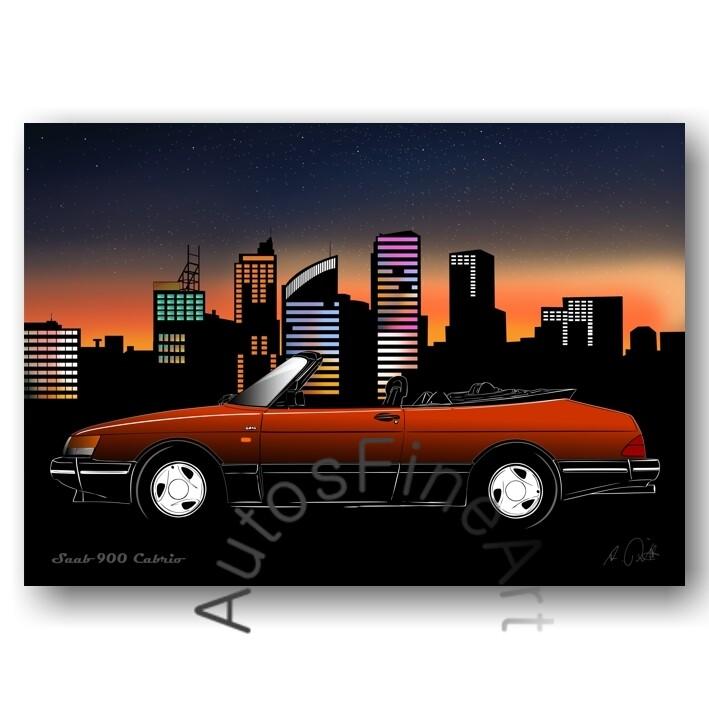 Saab 900 Cabrio - Poster No. 142city