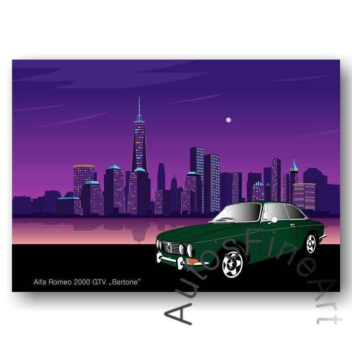 Alfa Romeo 2000 GTV BERTONE - Poster No. 50city
