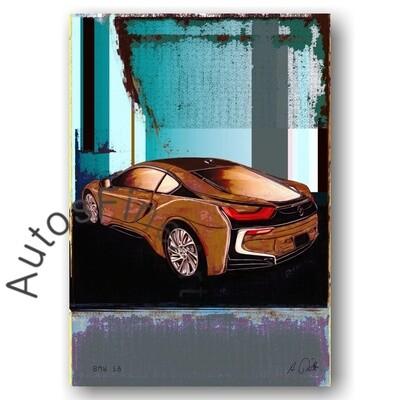 BMW i8 - HD Aluminiumbild No. 146