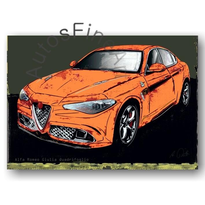 Alfa Romeo Giulia Quadrifoglio - HD Aluminiumbild No. 151spark