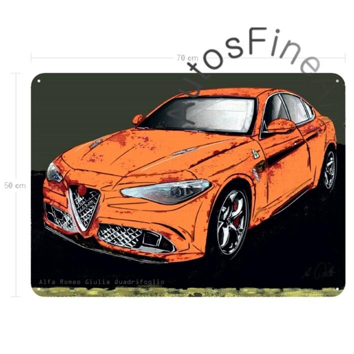 Alfa Romeo Giulia Quadrifoglio - Blechbild No. 151spark