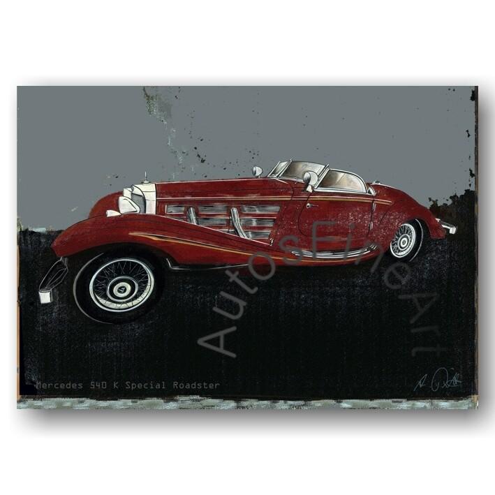 Mercedes 540 K Special Roadster - Poster No. 153spark