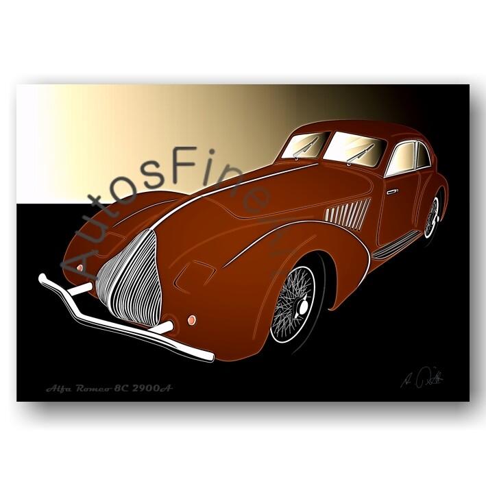Alfa Romeo 8C 2900A - Poster No. 87glow