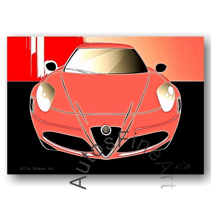 Alfa Romeo 4c - HD Aluminiumbild No. 90glow