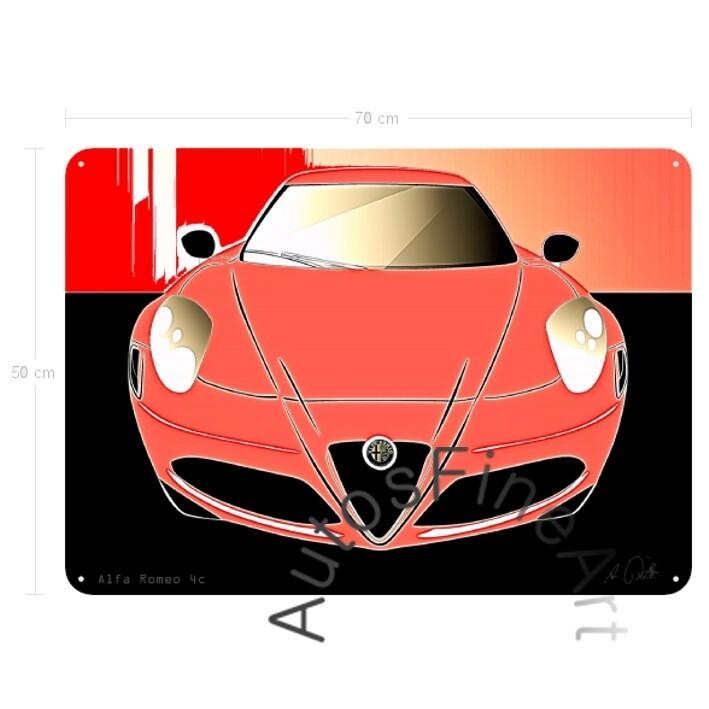 Alfa Romeo 4c - Blechbild No. 90glow