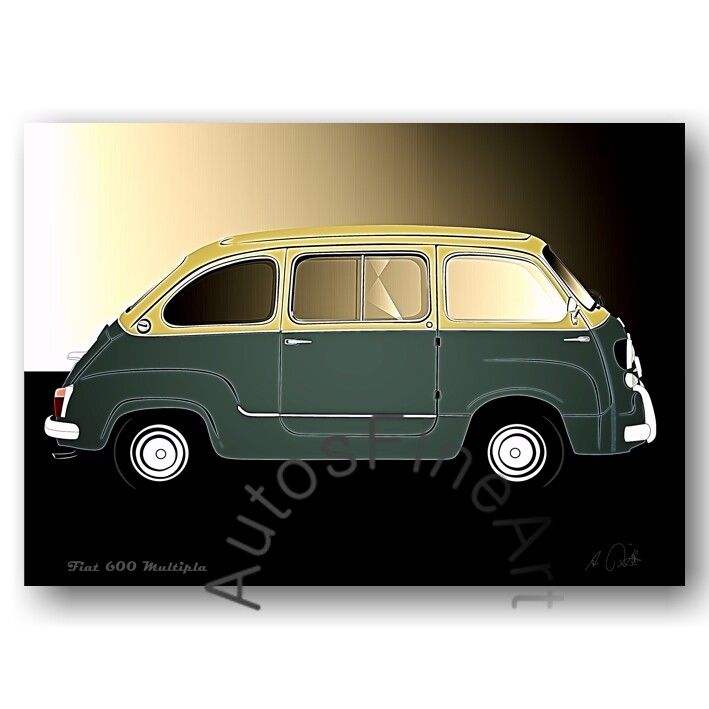Fiat 600 Multipla - Poster No. 102glow