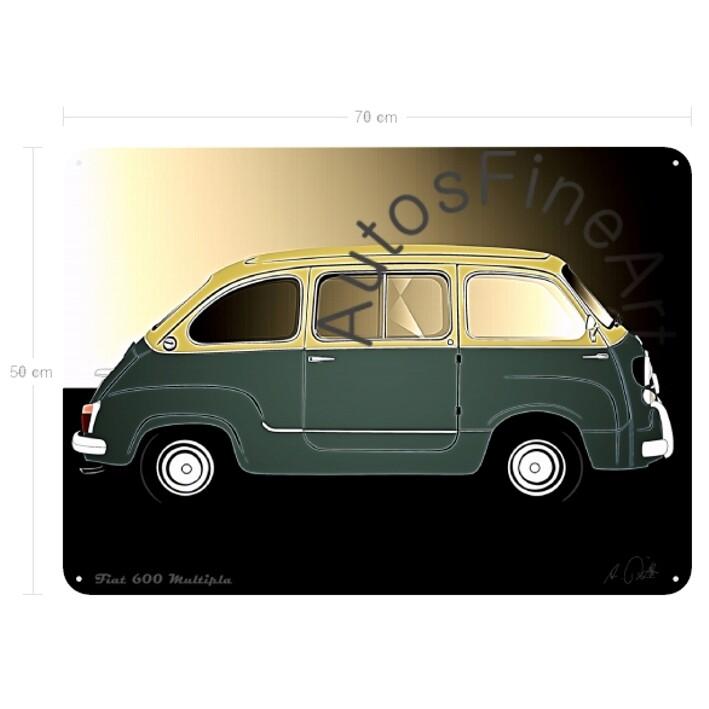 Fiat 600 Multipla - Blechbild No. 102glow