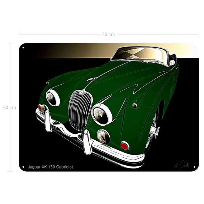 Jaguar XK 150 Cabriolet - Blechbild No. 148glow