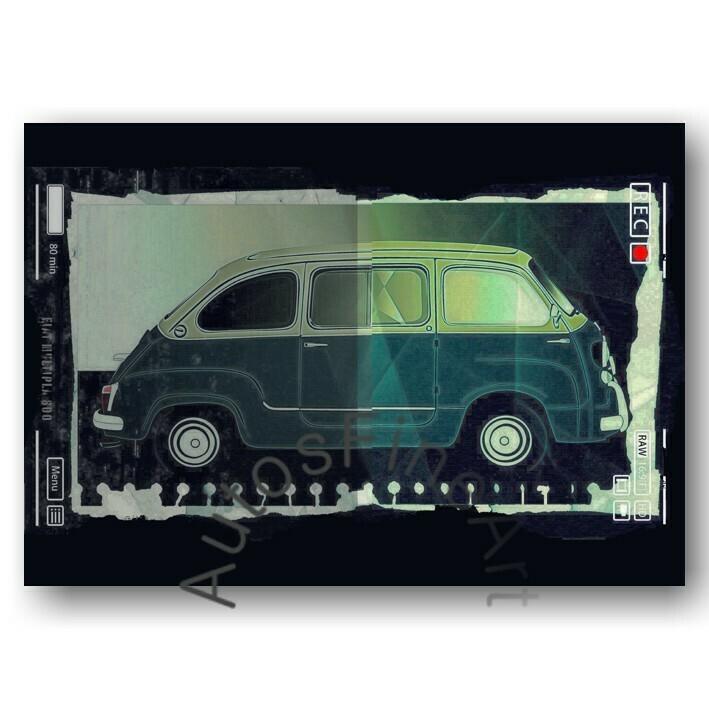 Fiat Multipla 600 - HD Aluminiumbild No. 102urban