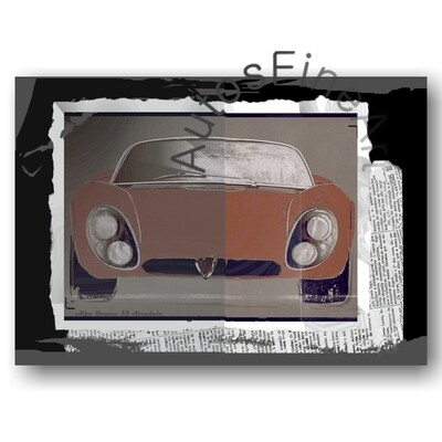 Alfa Romeo 33 Stradale - HD Aluminiumbild No. 104urban