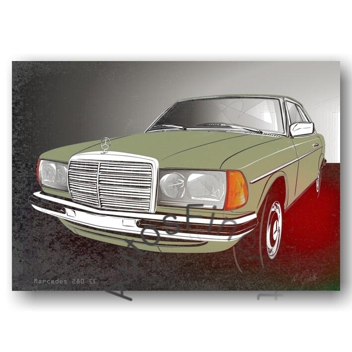 Mercedes 280 CE (W123) - Poster No. 122spark