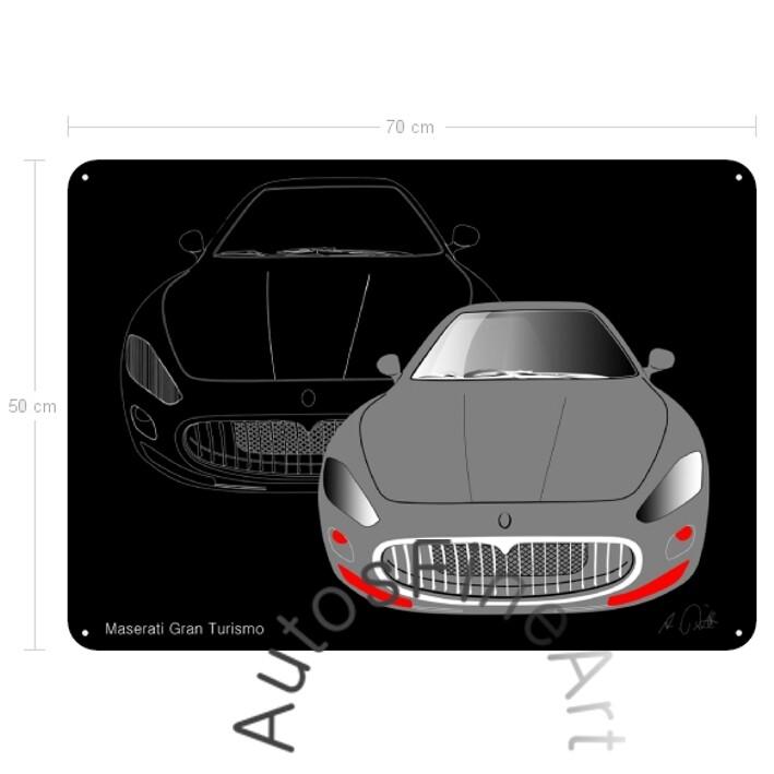 Maserati Gran Turismo - Blechbild No. 2sketch