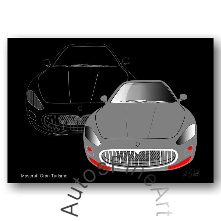 Maserati Gran Turismo - HD Aluminiumbild No. 2sketch