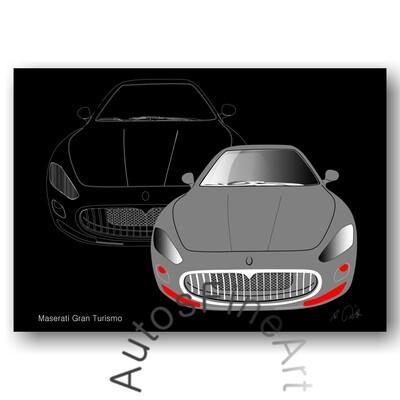 Maserati Gran Turismo - HD Aluminiumbild No. 2
