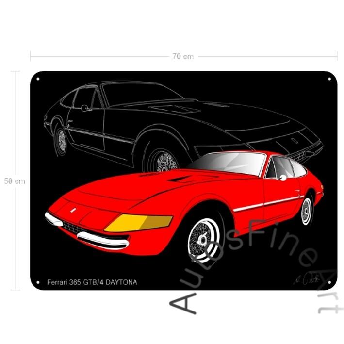 Ferrari 365 GTB/4 DAYTONA - Blechbild No. 6sketch