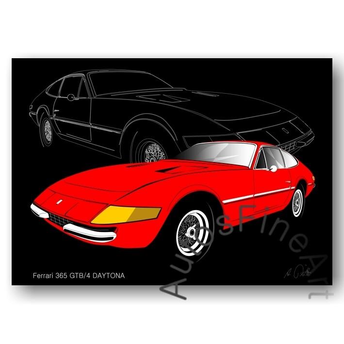 Ferrari 365 GTB/4 DAYTONA - Poster No. 6sketch