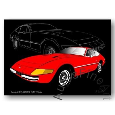 Ferrari 365 GTB/4 DAYTONA - HD Aluminiumbild No. 6sketch