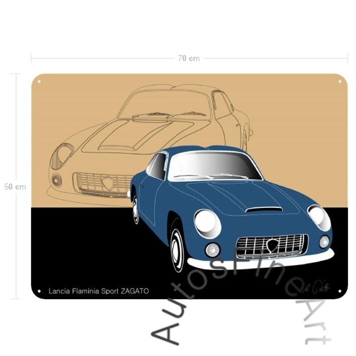 Lancia Flaminia Sport ZAGATO - Blechbild No. 11sketch
