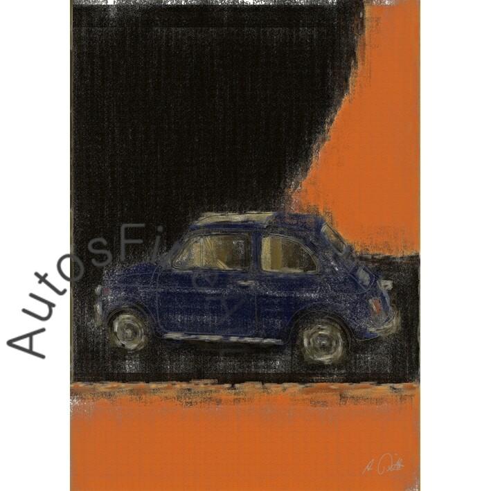 Fiat 500 - HD Aluminiumbild No. 27aClassic