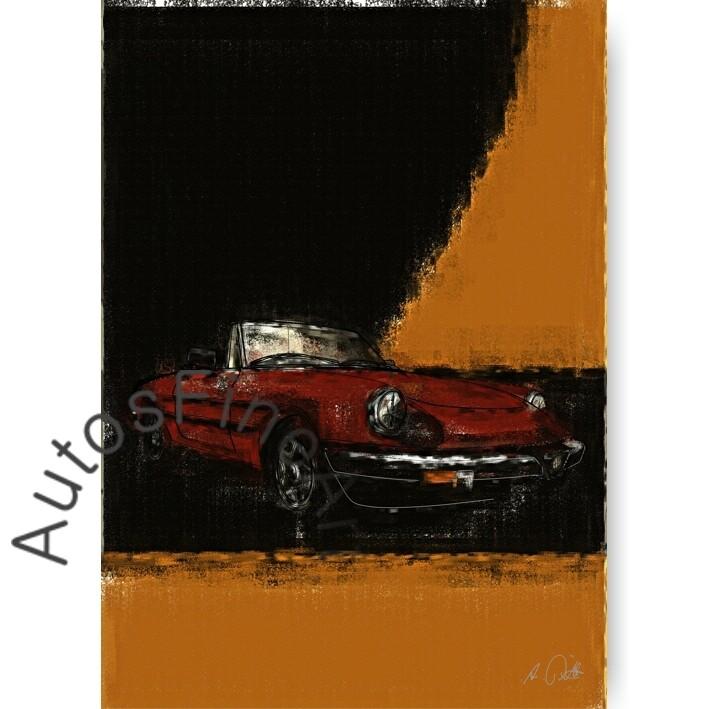 Alfa Romeo Spider Aerodinamica - HD Aluminiumbild No. 30aClassic
