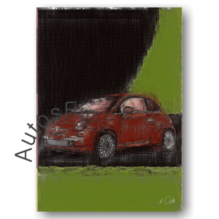 Fiat 500 - Poster No. 75aClassic