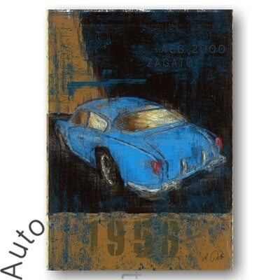 Maserati A6G/54 2000 ZAGATO - Poster No. 129Plate