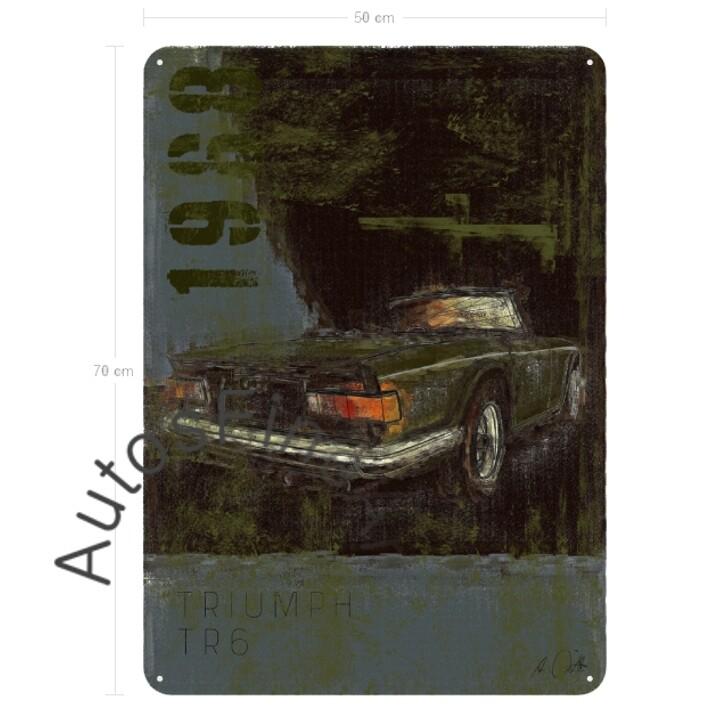 Triumph TR6 - Blechbild No. 135Plate
