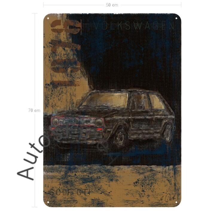 VW Golf GTI - Blechbild No. 136Plate