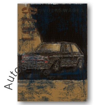 VW Golf GTI - Poster No. 136Plate