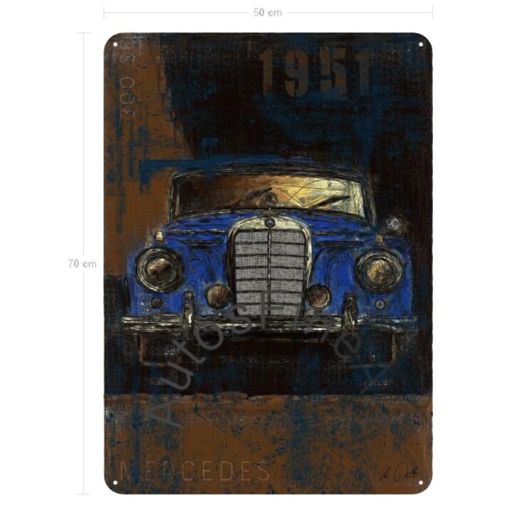 Mercedes 300 sc - Blechbild No. 133Plate