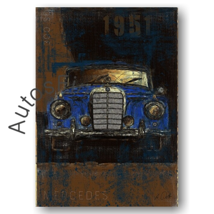 Mercedes 300 sc - Kunstdruck No. 133Plate
