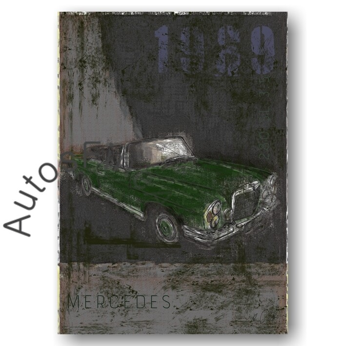Mercedes 280 SL 3.5 Cabriolet - Poster No. 131Plate