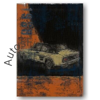 Ford Capri - HD Aluminiumbild No. 128Plate