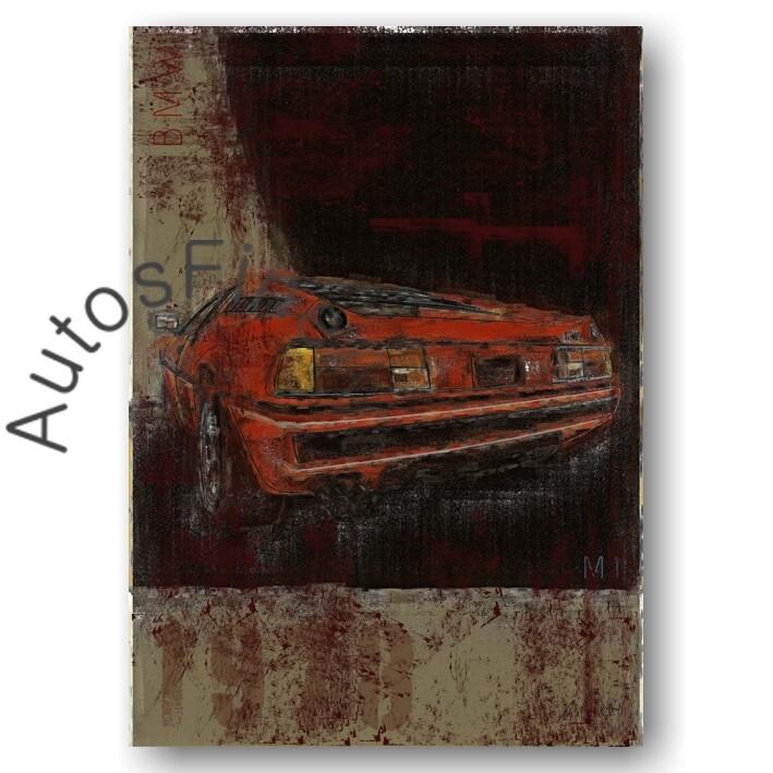 BMW M1 - Kunstdruck No. 127Plate