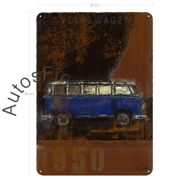 VW Bus T1 Samba - Blechbild No. 124Plate