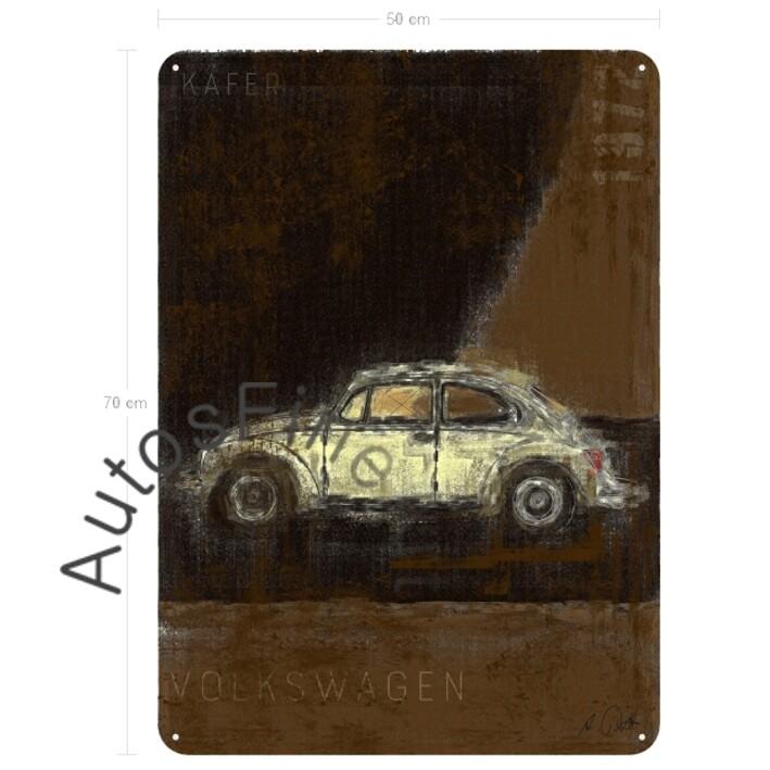 VW Käfer - Blechbild No. 123Plate