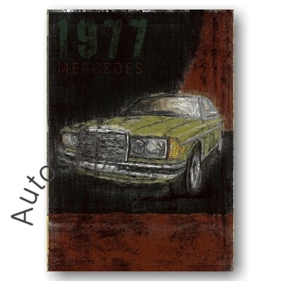 Mercedes 280 CE (W123) - Poster No. 122Plate