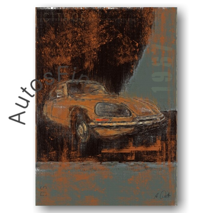 Citroen DS - Poster No. 121Plate